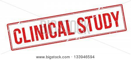 Clinical Study Red Rubber Stamp On White