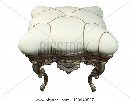 3D Rendering Classic Ottoman
