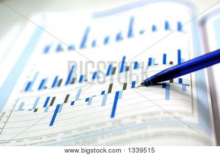 Foto do gráfico financeiro
