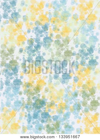 Abstract colordul bubbles pattern. Yellow and blue.