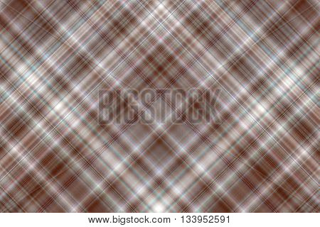 Brown and white checkered illustration with diagonal lines