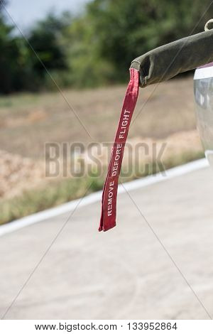 remove before flight sign protect aircraft avionic equipment