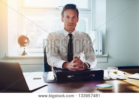 Executive Business Man At His Desk