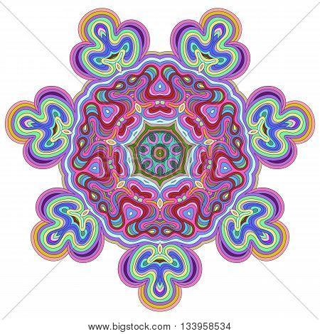 Mandala. Vintage decorative elements. Vivid colored ethnic ornament for your design. Islam Arabic Indian turkish pakistan chinese ottoman motifs