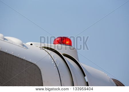 red beacon lights on helicopter for anti-collision signal