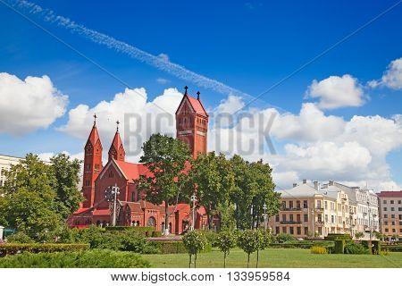 Catholic chapel St Simon and St Elena. Minsk. Belarus.