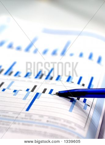 Photo Showing Business And Stock Chart