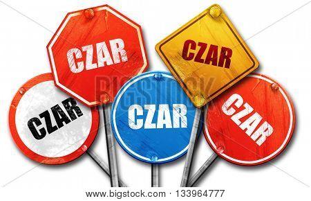 czar, 3D rendering, street signs