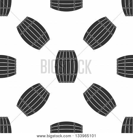 Wooden barrel Icon pattern on white background