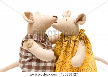 two Stuffed animals - soft toy mouse