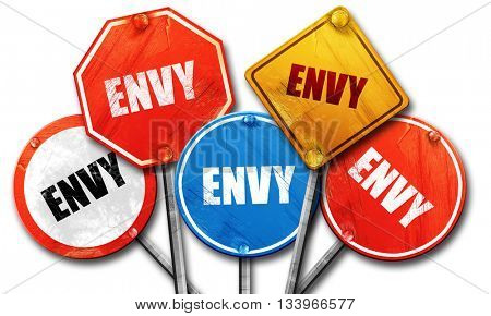 envy, 3D rendering, street signs