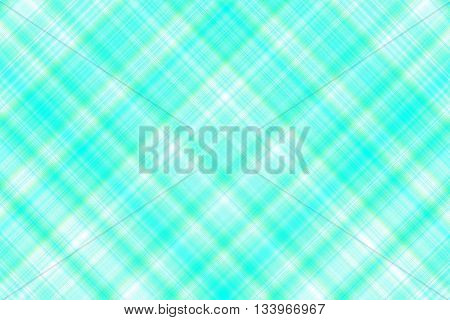Cyan and white checkered illustration with diagonal lines