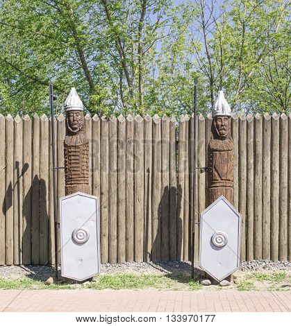 Wooden Sculptures Of Knights