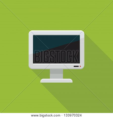 Flat color icon of a TV or monitor.