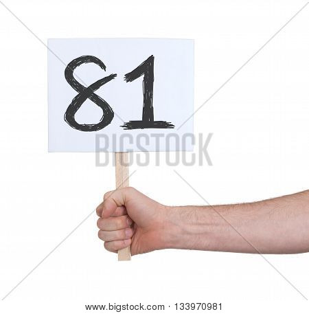 Sign With A Number, 81