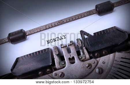 Monday Typography On A Vintage Typewriter