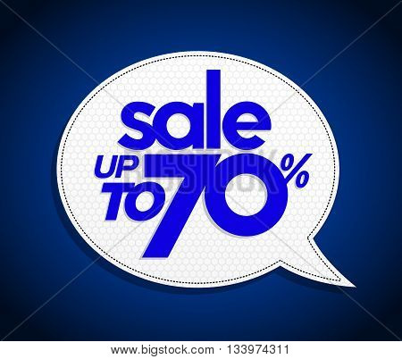 Sale Up To 70 Percents Bubble Sale Tag