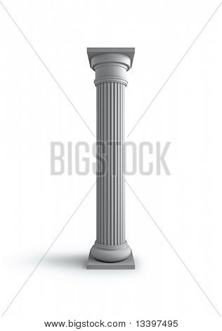 Architecture column antique white object