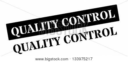 Quality Control Black Rubber Stamp On White