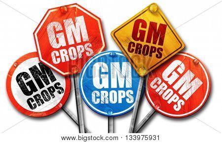 gm crops, 3D rendering, street signs