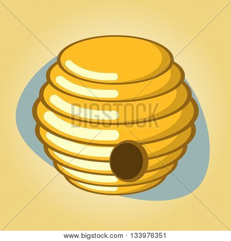 Hive colorful icon. Vector illustration in cartoon style