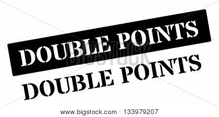 Double Points Black Rubber Stamp On White