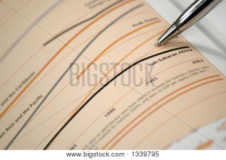 Photo Showing Financial Chart, Financial Report