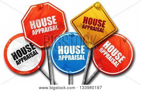 house appraisal, 3D rendering, street signs