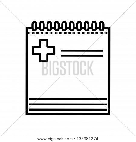 isolated medical diagnosis sheet with a cross vector design , Vector