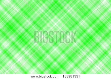 Green and white checkered illustration with diagonal lines
