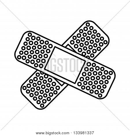 isolated adhesive medical bandage over white background vector design , Vector