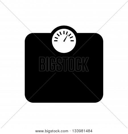 isolated weight measure machine silhouette icon design  , Vector