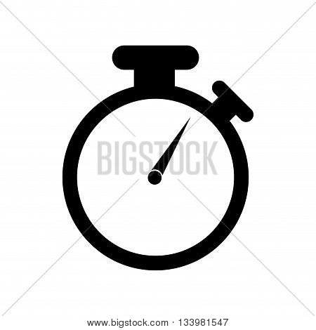 isolated chronometer icon design silhouette time measure illustration , Vector