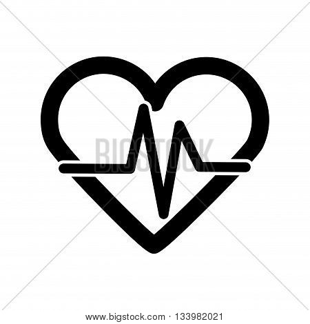 isolated heart rate icon design over white background , Vector