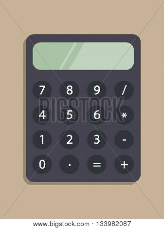 Vector calculator icon. Flat calculator icon. Vector illustration can be used for web banner, web and mobile, infographics