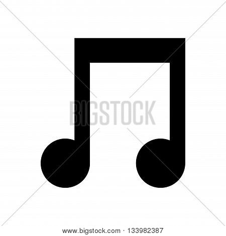 music note symbol illustration, silhouette icon design  , Vector