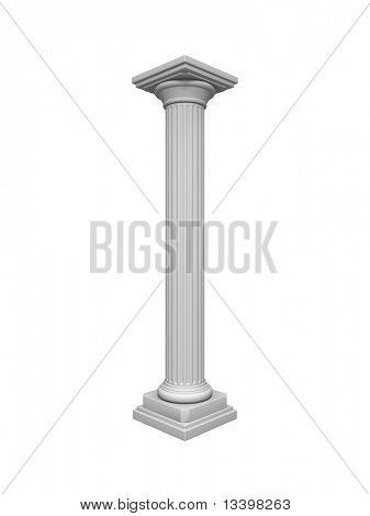 Architecture column antique white object