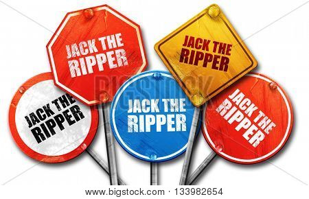 jack the ripper, 3D rendering, street signs