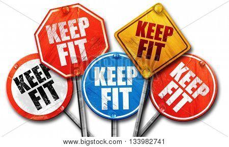 keep fit, 3D rendering, street signs