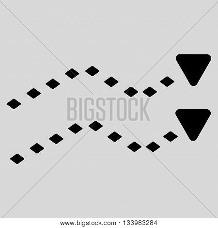 Dotted Trends vector toolbar icon. Style is flat icon symbol, black color, light gray background, rhombus dots.