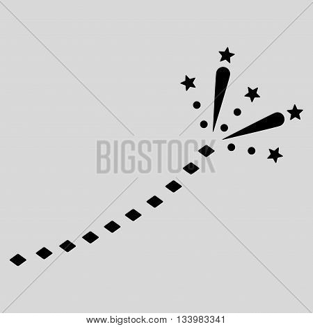 Fireworks Trace vector toolbar icon. Style is flat icon symbol, black color, light gray background, rhombus dots.