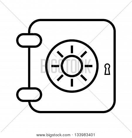 isolated safe locker, security icon linear design , Vector