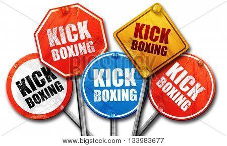 kickboxing, 3D rendering, street signs