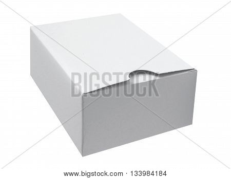 White cardboard box isolated on a White background
