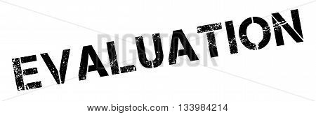 Evaluation Black Rubber Stamp On White