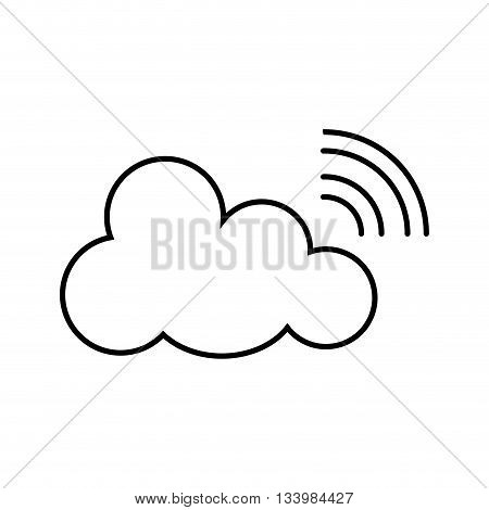 isolated wi fi cloud, transmitting service, internet concept design , Vector
