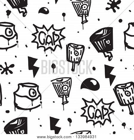 Original youth seamless patterns, repeating image for using pattern on any items, T-shirts, wallpaper, curtains