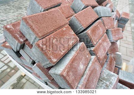 Pile Of New Bricks