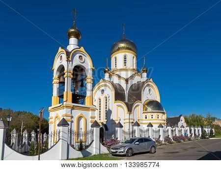 Temple of Saint regal Passion bearer Nicholas and Alexandra, . Kursk. Russia