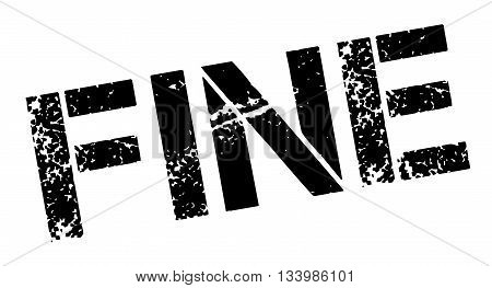 Fine Black Rubber Stamp On White